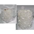 Rullo di candele in rose bianche 7 cm