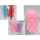 wholesale Candles & Candleholder: Candle cylinder in hearts 12x6 cm