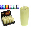 Großhandel Batterien & Akkus: LED Kerze auf Batterien 5x11 cm RGB Wechsel ko