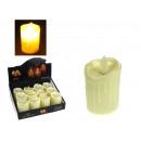 Großhandel Batterien & Akkus: LED Kerze auf Batterien 5x7 cm warmweiß beweglich