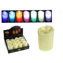 Großhandel Batterien & Akkus: LED Kerze auf Batterien 5x7 cm RGB Farbwechsel