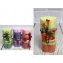 Candela, candela fiore sfumata 10x5 cm mix