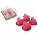 Dekorative Kerzen Flamingos Satz von 4 Stück (9x