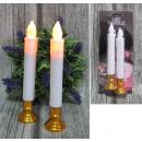 Lange led-kaarsen op basis van een set van 2 stuks