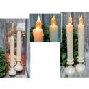 Lange LED-Kerzen basieren auf einem Satz von 2 Stü