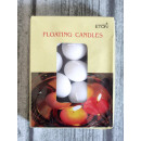 wholesale Candles & Candleholder: Floating candles white 4.5x3 cm set of 12 pieces