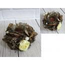 Candeliere decorativo fatto di erbe con un inserto