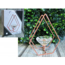 wholesale Small Parts & Accessories: Candle holder geometric copper wire 10.5x14,5x6,