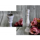 wholesale Candles & Candleholder: Wooden high white candlestick wiping, post
