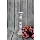 Wooden tall candlestick with hearts 36,