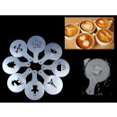wholesale Coffee & Espresso Machines: Template for  decorating coffee 12x8 cm set of 6 pi