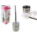 grossiste Meubles de salle de bains & accessoires: Brosse de toilette métal chrome brillant rayures 3