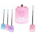 wholesale Bath Furniture & Accessories: Toilet brush plastic pastel round steel