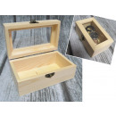 wholesale Houshold & Kitchen: Casket, trunk wood with a window, 12.5 glass