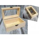 Szkatułka, kuferek drewno z okienkiem, szybką 12,5