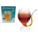 groothandel Glazen: Glas, een glas met  een glazen buis, stro