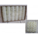 Chaîne de perles mélange de formes blanches - 1 bo