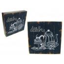 wholesale Pictures & Frames: Plate, picture Vintage kitchen wood 20x20x4 c