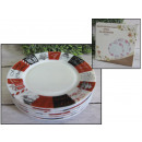 wholesale Houshold & Kitchen: White glass plate  with a pattern of 15 cm opal gla