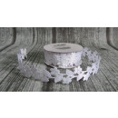 Decorative ribbon cut flowers - white (2.5