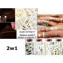 Großhandel Piercing / Tattoo: Flash-Tattoo Gold  Tattoos 2-teiliges Set!