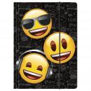 Cartella con elastico a4 emoji