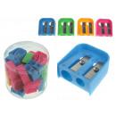 ingrosso Scuola: Temperamatite tradizionale in plastica colore 2 la