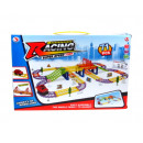 Race track with a battery-operated car 71 eleme