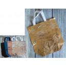 Bevásárló táska fényes függőleges 34x33x12 cm