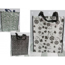 wholesale Bags & Travel accessories: Shopping bag, black and white shopping 40x33x11 cm