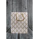 Sacchetto regalo geometrico con motivi dorati 23x1
