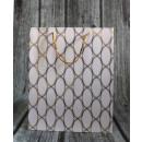 Sacchetto regalo geometrico con motivi dorati 32x2