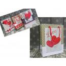 mayorista Papel regalo: Monedero prezentowa 23x18x8 cm corazón - 1 pieza