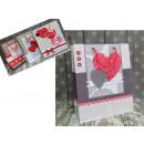 Erszényes prezentowa szív 32x26x10 cm - 1 darab