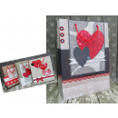 Erszényes prezentowa szív 42x30x12 cm - 1 darab