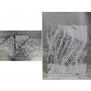 Sacchetto regalo con foglie d'argento 32x26x12