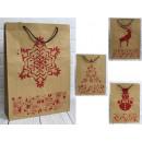 Sacchetto regalo di Natale con eco glitter 44x32