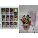 nagyker Otthon és dekoráció: Ajándékvirágok vödörben 10x6x6 cm - 1 darab