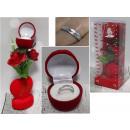 Großhandel Schmuck & Uhren: Valentines Geschenk Herz mit Rose + Ring in