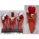 groothandel Overigen: Valentijnsgeschenk in een kegel van 20 cm