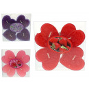 wholesale Food: Valentines day heart candles set 4 piece (10x10 cm
