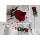 Valentin rózsa egy 42 cm-es fólia kúpban - 1 db