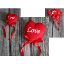 Cuore di San Valentino amore pieno sulla cima 7,5x