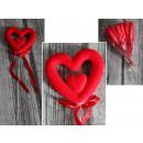 Valentinstag Herz doppelt auf der Spitze 9x28 cm -