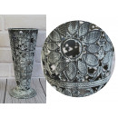 Vase of decorative metal flowers 25x11 cm