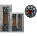 wholesale Flowerpots & Vases: Vase decorative metal-string flowers 30x9 cm
