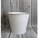 groothandel Reinigingsproducten: Emmer, decoratieve behuizing witte tuin 25x28 cm