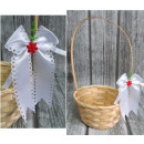 Húsvét - húsvéti kosár nyakkendő fehér -