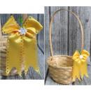 Ostern - Krawatte auf gelbem Osterkorb -