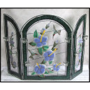 wholesale Decoration: Stained glass window flowers 81x117 cm